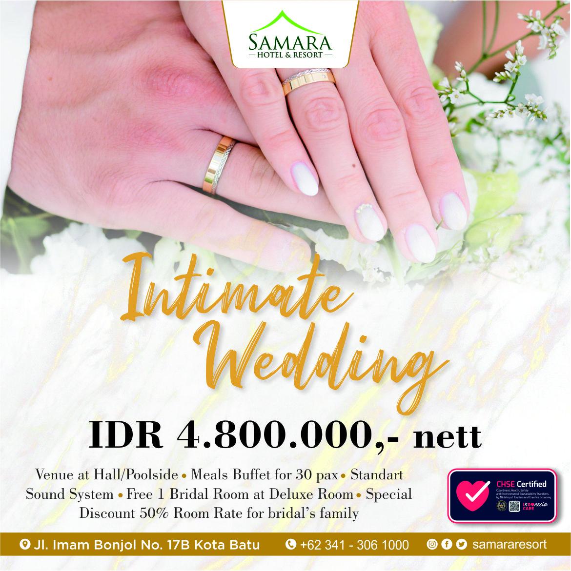 Intimate Wedding Package Sqr